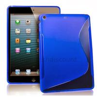 Housse etui coque silicone gel pour Apple iPad 5 Air + film ecran - BLEU
