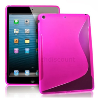Housse etui coque silicone gel pour Apple iPad 5 Air + film ecran - ROSE