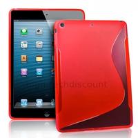 Housse etui coque silicone gel pour Apple iPad 5 Air + film ecran - ROUGE