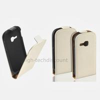Housse etui coque pochette PU cuir fine pour Samsung Galaxy Young s6310 + film ecran - BLANC