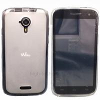 Housse etui coque pochette silicone gel pour Wiko Cink Five 5 + film ecran - BLANC TRANSPARENT