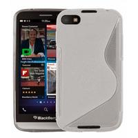 Housse etui coque pochette silicone gel pour Blackberry Z30 + film ecran - BLANC