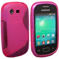 Housse etui coque silicone gel pour Samsung Galaxy Star s5280 s5282 + film ecran - ROSE
