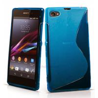 Housse etui coque silicone gel pour Sony Xperia Z1 Compact + film ecran - BLEU