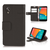Housse etui coque pochette portefeuille pour Google Nexus 5 + film ecran - NOIR