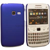 Housse etui coque pochette rigide pour Samsung s3570 Chat 357 + film ecran - BLEU RIGIDE