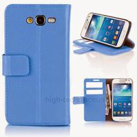 Housse etui coque portefeuille pour Samsung G7105 Galaxy Grand 2 + film ecran - BLEU