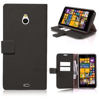 Housse etui coque pochette portefeuille PU cuir pour Nokia Lumia 1320 + film ecran - NOIR