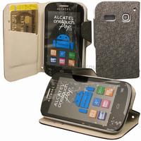 Housse etui coque portefeuille pour Alcatel One Touch Pop C3 4033D + film ecran - NOIR