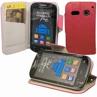 Housse etui coque portefeuille pour Alcatel One Touch Pop C3 4033D + film ecran - ROSE