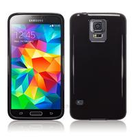 Housse etui coque fine silicone gel pour Samsung Galaxy S5 i9600 + film ecran - NOIR GLOSSY