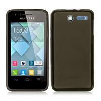 Housse etui coque silicone gel pour Alcatel One Touch Pop C1 4016D + film ecran - NOIR TPU