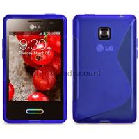 Housse etui coque pochette silicone gel pour LG Optimus L3 II 2 e430 + film ecran - BLEU