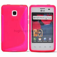 Housse etui coque pochette silicone gel pour LG Optimus L3 II 2 e430 + film ecran - ROSE