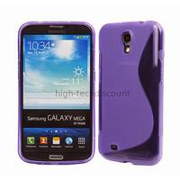 Housse etui coque silicone gel pour Samsung i9200 Galaxy Mega 6.3 + film ecran - MAUVE