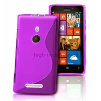 Housse etui coque pochette silicone gel pour Nokia Lumia 925 + film ecran - MAUVE