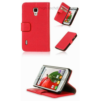 Housse etui coque portefeuille pour LG Optimus L7 II 2 P710 + film ecran - ROSE