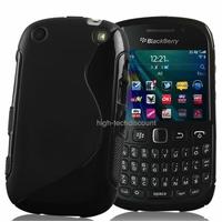 Housse etui coque silicone gel NOIR pour Blackberry 9320 Curve + film ecran