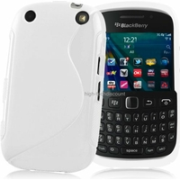 Housse etui coque silicone gel BLANC pour Blackberry 9320 Curve + film ecran
