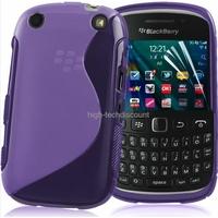 Housse etui coque silicone gel MAUVE pour Blackberry 9320 Curve + film ecran