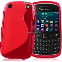 Housse etui coque silicone gel ROSE pour Blackberry 9320 Curve + film ecran