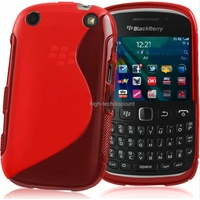 Housse etui coque silicone gel ROUGE pour Blackberry 9320 Curve + film ecran