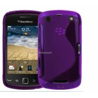 Housse etui coque silicone gel MAUVE pour Blackberry 9380 Curve + film ecran
