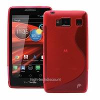 Housse etui coque silicone gel ROSE pour Motorola Razr HD XT926 + film ecran
