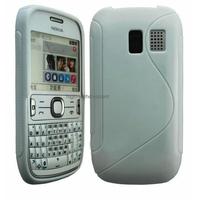 Housse etui coque silicone gel BLANC pour Nokia Asha 302 + film ecran