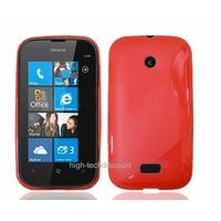 Housse etui coque silicone gel ROUGE pour Nokia Lumia 510 + film ecran