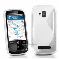 Housse etui coque silicone gel BLANC pour Nokia Lumia 610 + film ecran