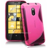 Housse etui coque silicone gel ROSE pour Nokia Lumia 620 + film ecran