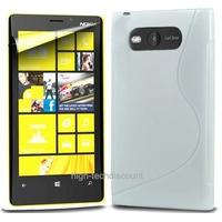 Housse etui coque silicone gel BLANC pour Nokia Lumia 820 + film ecran