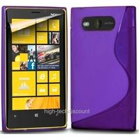 Housse etui coque silicone gel MAUVE pour Nokia Lumia 820 + film ecran