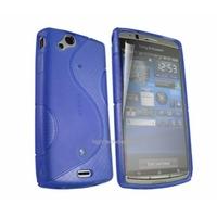 Housse etui coque silicone gel BLEU pour Sony Ericsson Xperia Arc / Arc S + film ecran