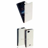 Housse etui coque cuir BLANC pour Sony Xperia J + film ecran