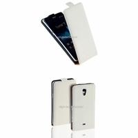 Housse etui coque cuir BLANC pour Sony Xperia T + film ecran
