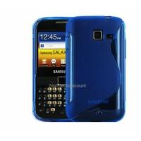 Housse etui coque silicone gel BLEU pour Samsung b5510 Galaxy Y Pro + film ecran