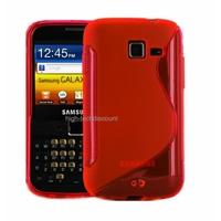 Housse etui coque silicone gel ROUGE pour Samsung b5510 Galaxy Y Pro + film ecran