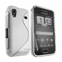 Housse etui coque silicone gel BLANC pour Samsung s5830 s5839i Galaxy Ace + film ecran