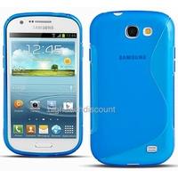 Housse etui coque silicone gel BLEU pour Samsung i8730 Galaxy Express + film ecran