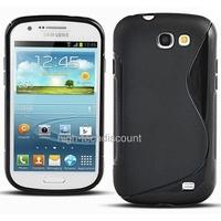 Housse etui coque silicone gel NOIR pour Samsung i8730 Galaxy Express + film ecran