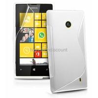 Housse etui coque silicone gel BLANC pour Nokia Lumia 520 + film ecran