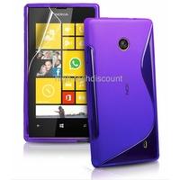 Housse etui coque silicone gel MAUVE pour Nokia Lumia 520 + film ecran