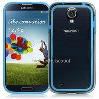 Housse etui coque bumper gel BLEU CLAIR pour Samsung i9500 i9505 Galaxy s4 + film ecran