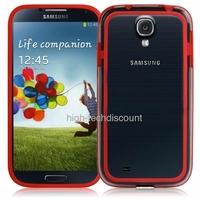 Housse etui coque bumper gel ROUGE pour Samsung i9500 i9505 Galaxy s4 + film ecran