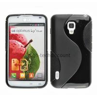 Housse etui coque pochette silicone gel pour LG Optimus L7 II 2 p710 + film ecran - NOIR