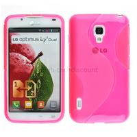 Housse etui coque pochette silicone gel pour LG Optimus L7 II 2 p710 + film ecran - ROSE