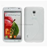 Housse etui coque pochette silicone gel pour LG Optimus L7 II 2 p710 + film ecran - BLANC