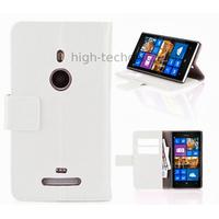 Housse etui coque portefeuille pour Nokia Lumia 925 + film ecran - BLANC